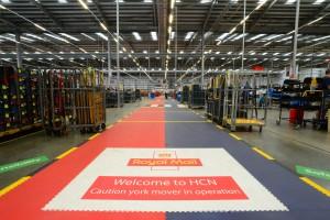 Our warehouse flooring hard at work at royal mail