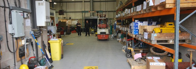 ecotile industrial flooring used by AES pumps Ltd